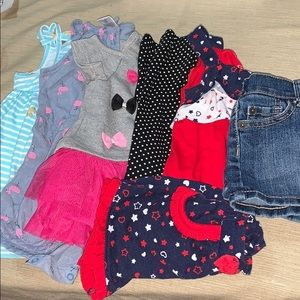 Kids girls 9 and 9-12 months clothes bundle